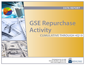 GSE Repurchase Activity: Cumulative to Fourth Quarter 2019