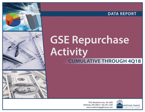 GSE Repurchase Activity: Cumulative to Fourth Quarter 2018 cover